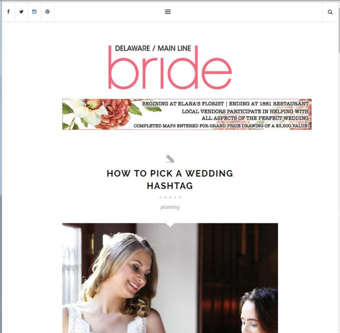 Delaware/Mainline Bride – How To Pick A Wedding Hashtag