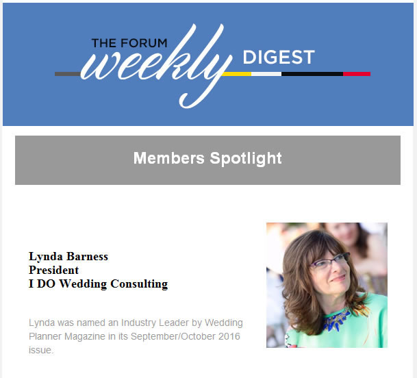 Forum Weekly Digest Member Spotlight