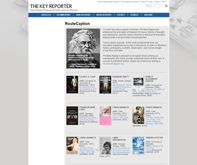 The Key Reporter – Three Book Notices
