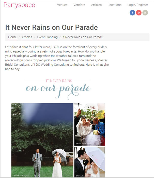PartySpace Philadelphia – It Never Rains On Our Parade