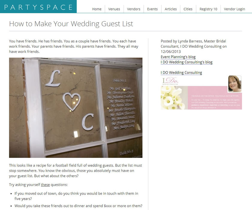 partyspace how to make your wedding guest list idoplan