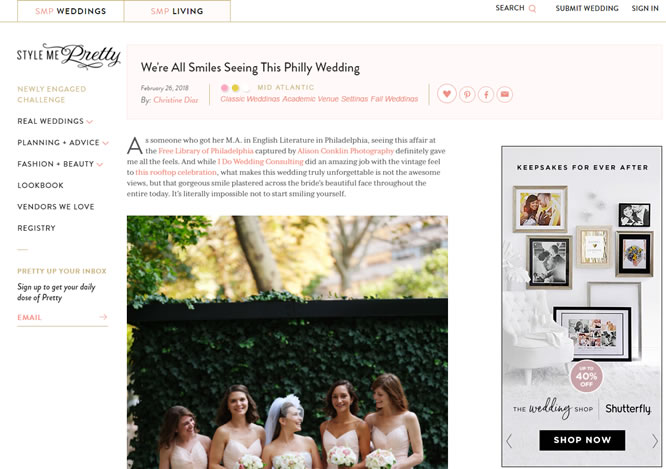 Style Me Pretty – We're All Smiles Seeing This Philly Wedding