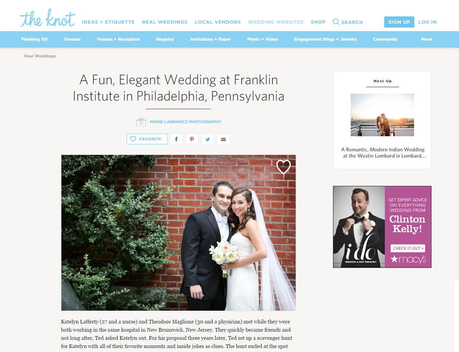 The Knot A Fun Elegant Wedding At Franklin Insute In Philadelphia Pennsylvania