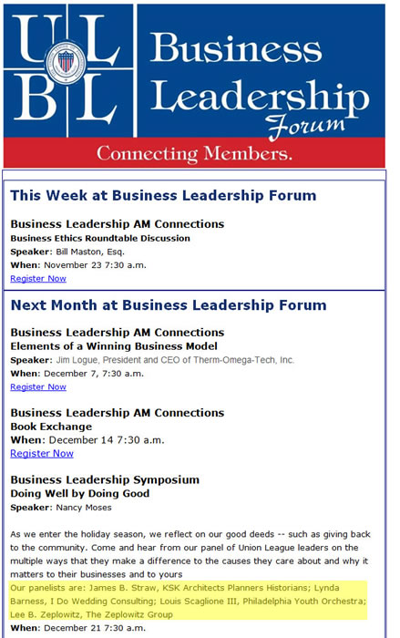 Union League Business Leadership Forum