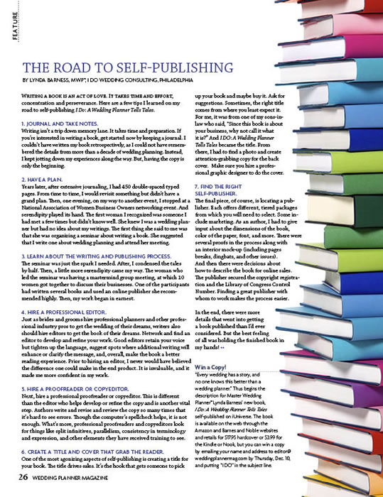 Wedding Planner Magazine – The Road To Self-Publishing
